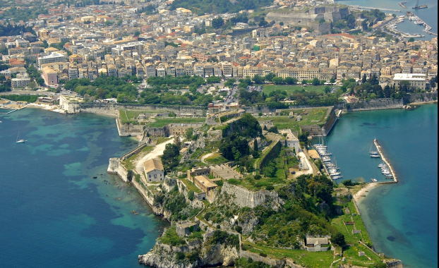 Aerial photo of Corfu fortress