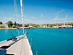 The corinth canal is crossed on many yacht charters out of Athens