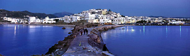 Naxos port and town